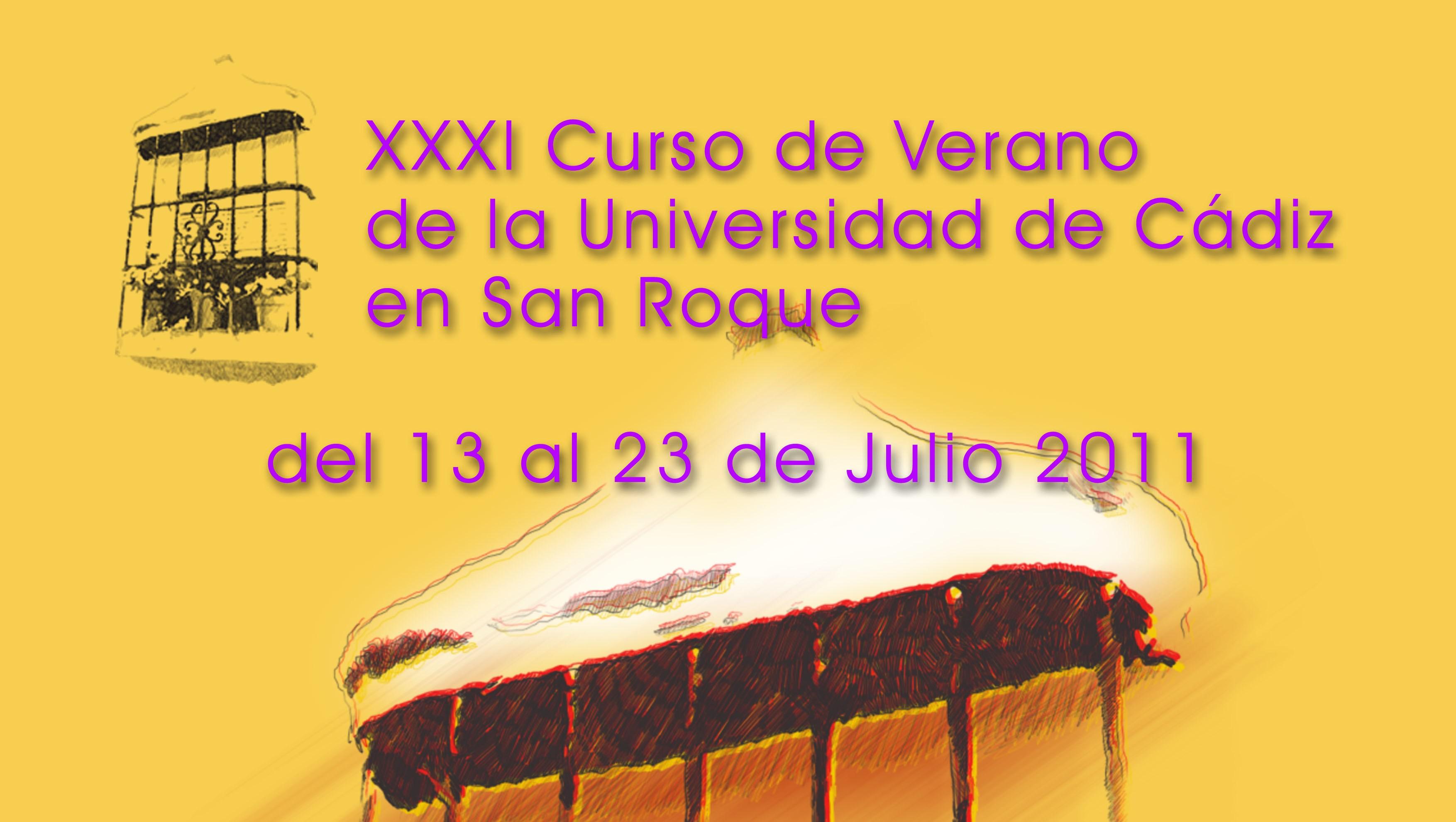 Banner del Cartel XXXI Curso de Verano la UCA en San roque
