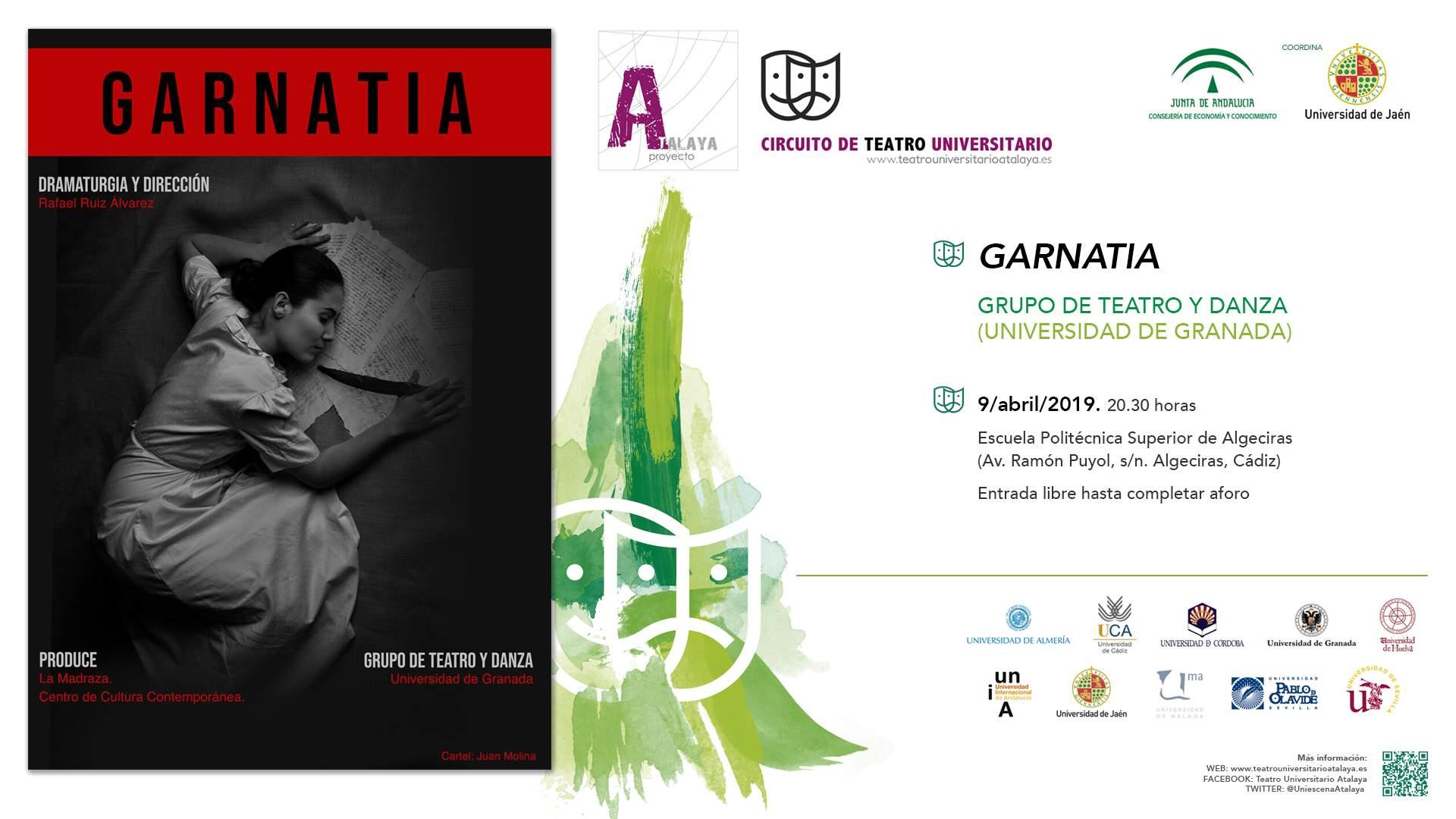 """El Grupo de Teatro y Danza de la Universidad de Granada estrena """"Garnatia"""" en la UCA"""