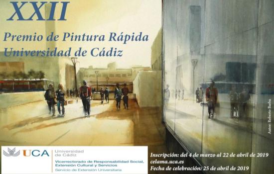 Abierta la inscripción en el XXII Premio de Pintura Rápida en la Universidad de Cádiz