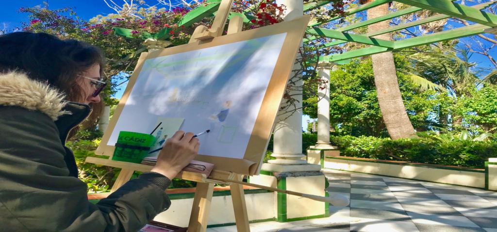 Se celebra el XXII  Premio de Pintura Rápida Universidad de Cádiz