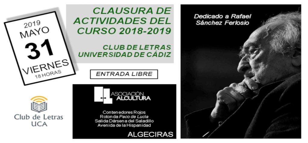 Acto de clausura del Club de las Letras de la UCA en Algeciras