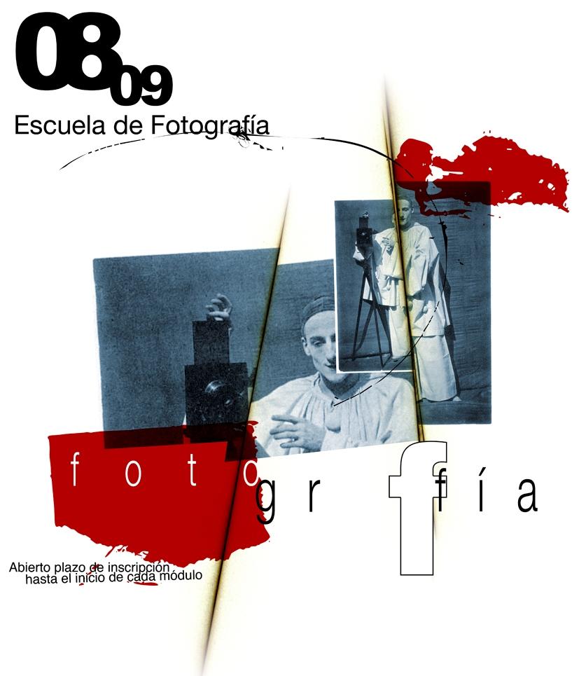 Cartel Escuela de Fotografía 2008 2009