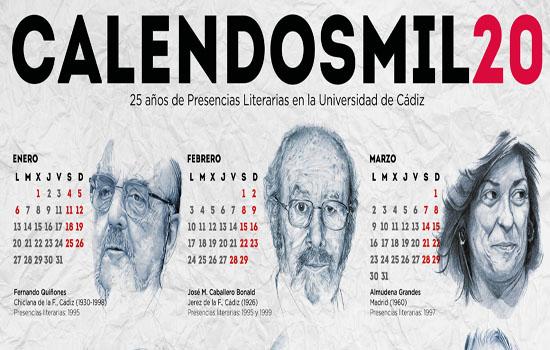 El Calendosmil20 dedica su nueva edición a los 25 años del programa Presencias Literarias en la Universidad de Cádiz