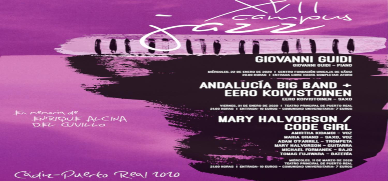 Andalucía Big Band y Eero Koivistoinen en Concierto Campus Jazz Cádiz / Puerto Real 2020, dedicado este año a la memoria de Enrique Alcina del Cuvillo
