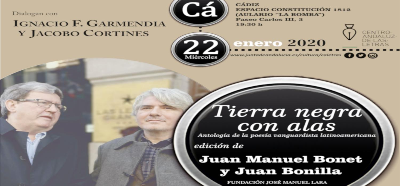 """Presentación del libro """"Tierra negra con alas. Antología de la poesía vanguardista latinoamericana"""" en el Campus de Cádiz"""