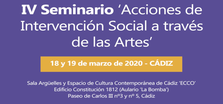"""IV Seminario """"Acciones de Intervención Social a través de las Artes"""" en la UCA"""