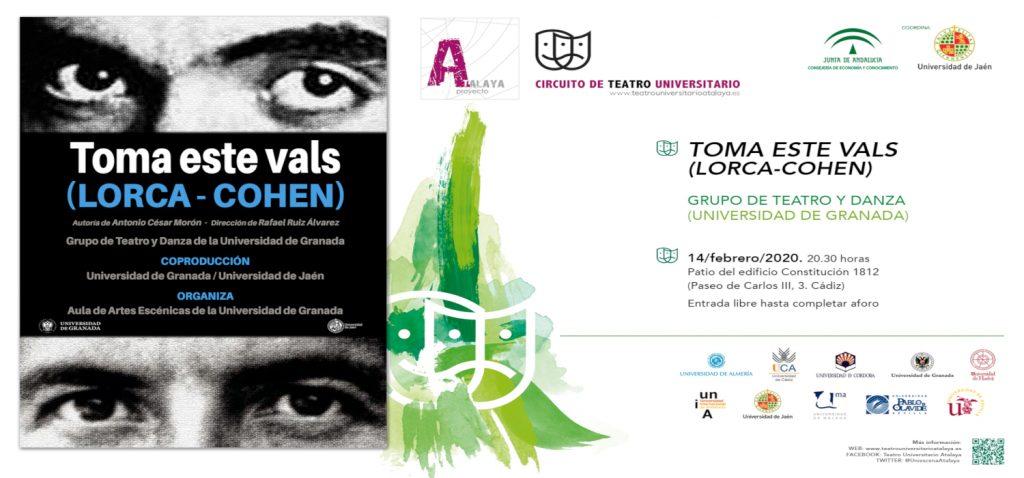 """Representación de la obra """"Toma este Vals"""" de Lorca-Cohen, por el Grupo de Teatro de la Universidad de Granada en la UCA"""