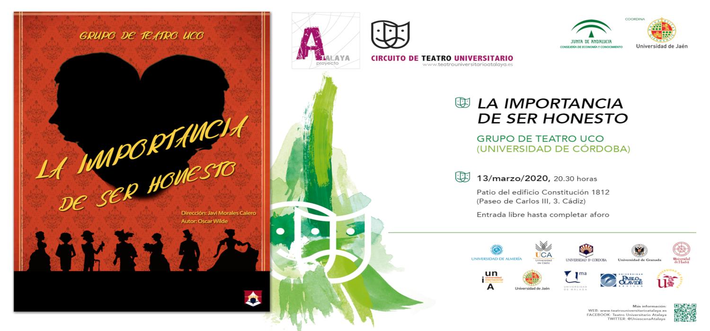 """Estreno de la obra """"La importancia de ser honesto"""" de Óscar Wilde, por el Grupo de Teatro de la Universidad de Córdoba en la UCA"""