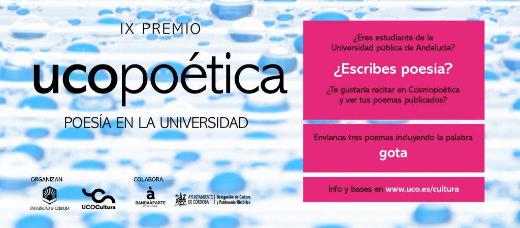 Finaliza el plazo para participar en el IX certamen UCOpoética, organizado por la Universidad de Córdoba en el marco del Proyecto Atalaya