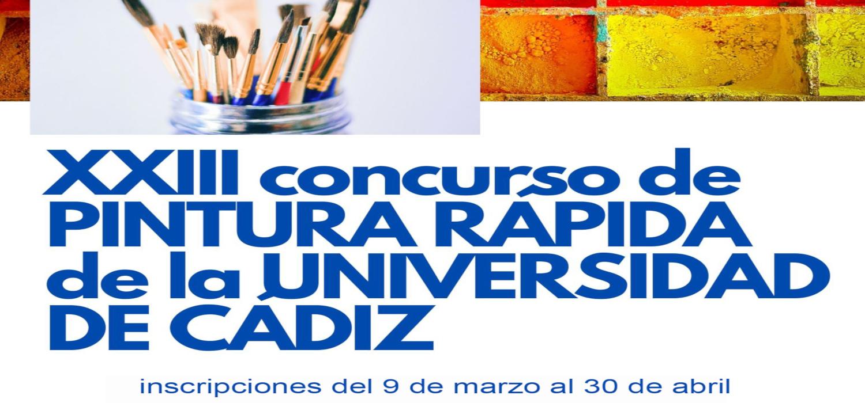 El plazo de inscripción en el XXIII Concurso de Pintura Rápida de la Universidad de Cádiz permanecerá abierto hasta el 30 de abril