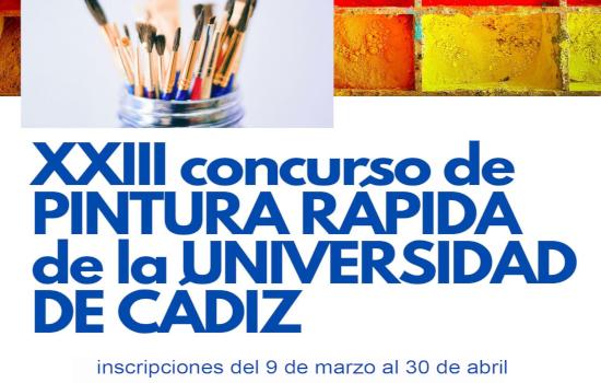 IMG El plazo de inscripción en el XXIII Concurso de Pintura Rápida de la Universidad de Cádiz permanecerá abierto hasta el 30 de abril