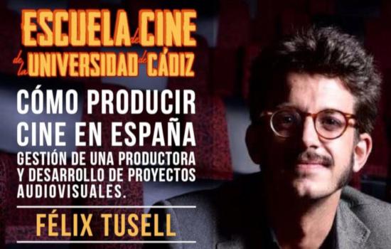 """IMG El productor Félix Tusell imparte el módulo """"Cómo producir cine en España"""" en la Escuela de Cine de la Universidad de Cádiz"""