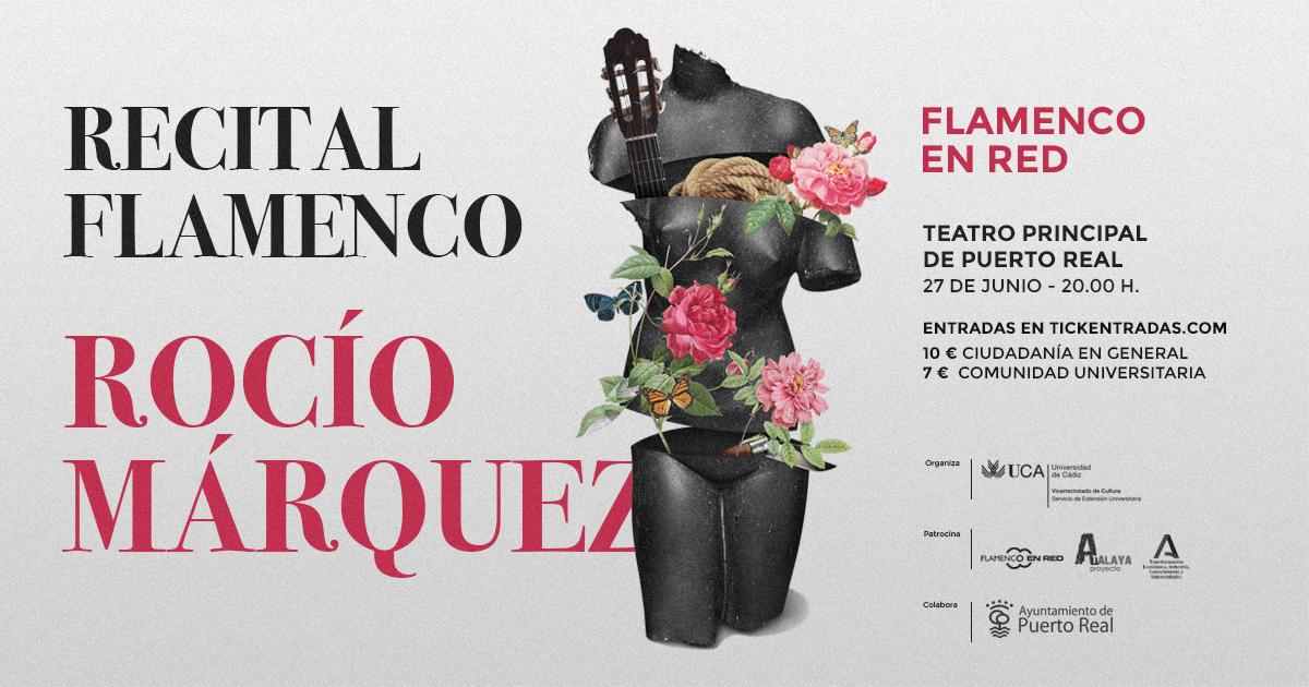 La cantaora Rocío Márquez ofrecerá un concierto en el Teatro Principal de Puerto Real en el marco del programa Flamenco en Red