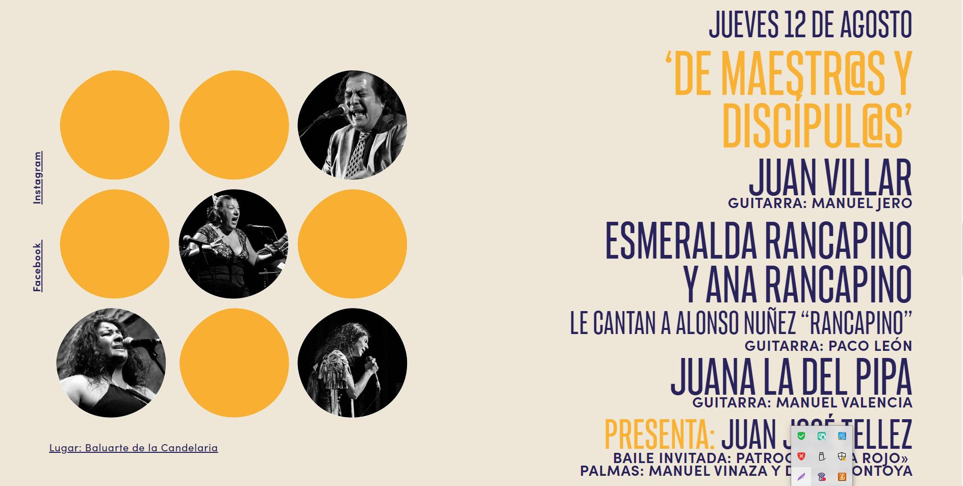 """El Servicio de Extensión Universitaria del Vicerrectorado de Cultura colabora con """"De maestr@s y discípul@s"""" dentro del ciclo """"Cádiz Flamenco"""", en el marco del programa Flamenco en Red"""