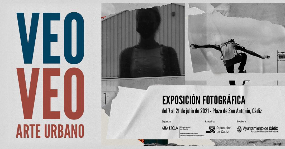 """La exposición fotográfica del concurso """"Veo-Veo, Arte Urbano"""" podrá visitarse en la Plaza de San Antonio de Cádiz"""