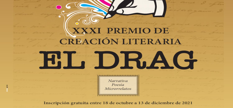 Abierta la convocatoria para el XXXI Premio de Creación Literaria El Drag